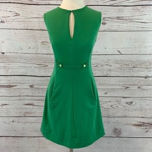 Diane von Furstenberg silk dress green Catherine
